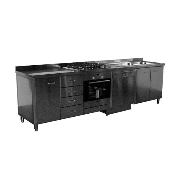 Cucina domestica in acciaio inox AISI 304
